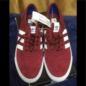 Adidas Adi-Ease Red/White Skateboard Shoes